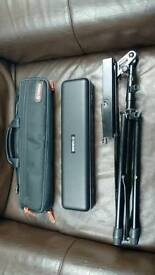 Yamaha flute 211 with music stand