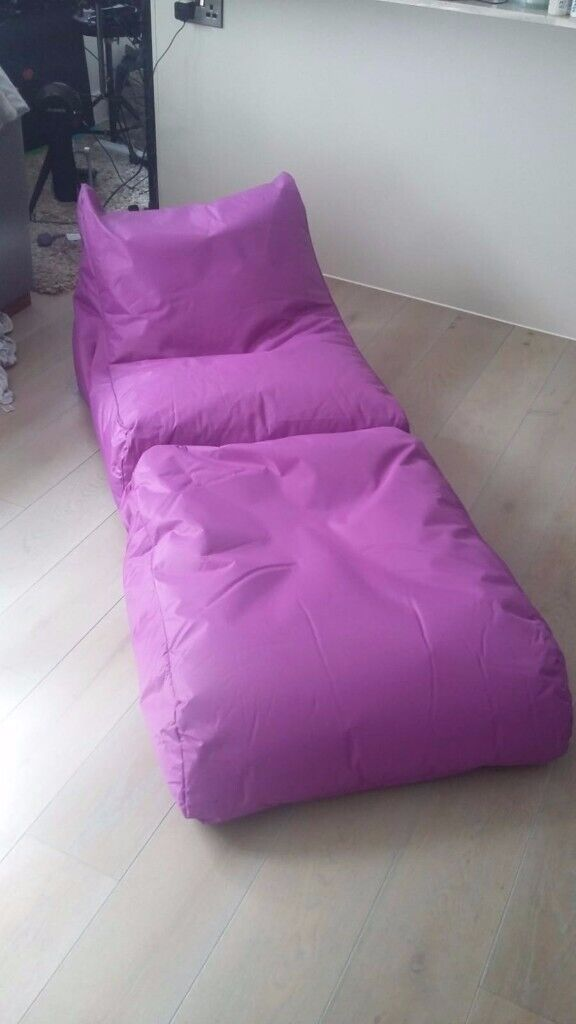 Astonishing Purple Waterproof Beanbag Chair Bed Suitable For Outside And Inside In Bournemouth Dorset Gumtree Pabps2019 Chair Design Images Pabps2019Com