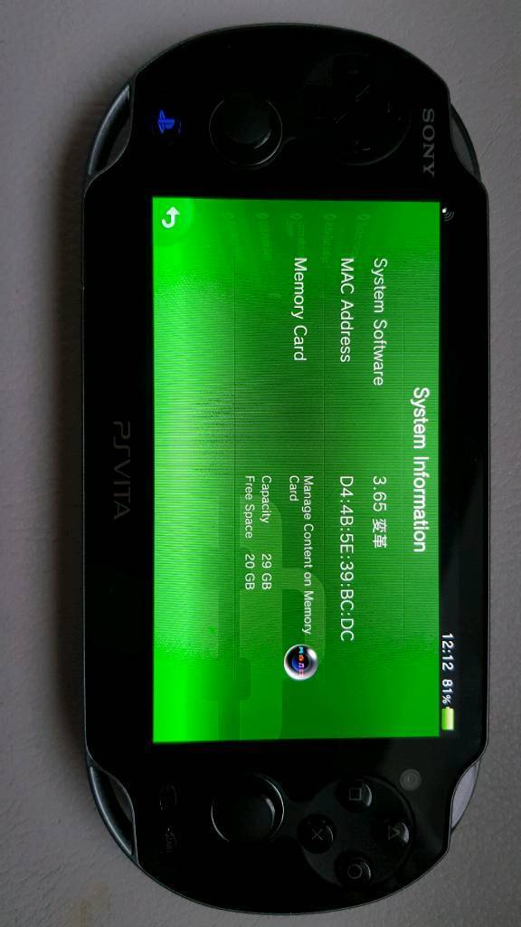 PS Vita 3 65 Henkaku CFW 32GB SD2VITA (Can Post) | in Congleton, Cheshire |  Gumtree