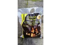 Opened bag of La Haceinda Chimenea or fire pit heat logs (only 2/3 used) RRP £10