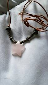 Rose quartz star
