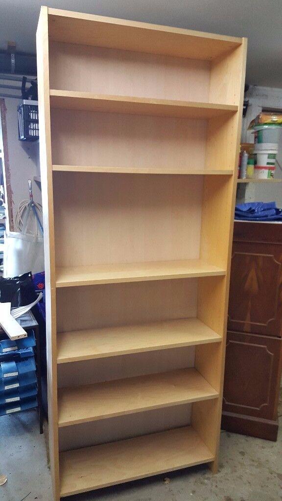 Bookcase - light oak veneered
