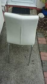 Cream 4 x next dinning chairs opus range