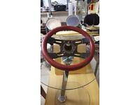 Red Leather Grip Steering Wheel
