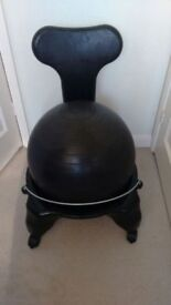 FIT-CHAIR BALANCE BALL CHAIR – BLACK - VERY GOOD CONDITION