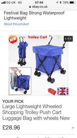 4 wheeled folding shopping trolley