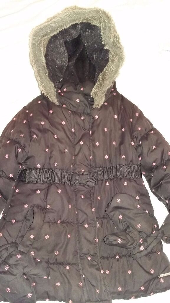 Little Rocha winter coat with gloves 3-4 yr