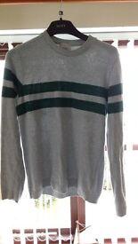 Mens RiverIsland jumper Grey/Green Large
