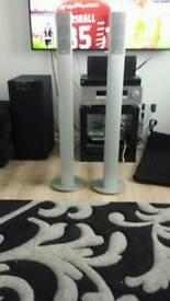 Eltax aluminium 50 watt speakers and 2 surround speakers