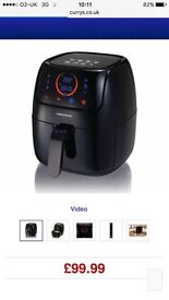 Morphy Richards black air fryer. Used twice, immaculate condition