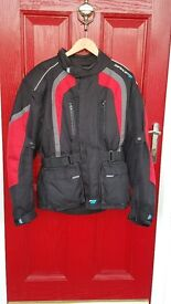 MOTORCYCLE SPADA TEXTILE JACKET SIZE S EXCELLENT CONDITION