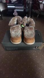 Timberland fur boots size 5