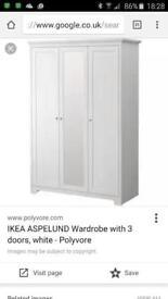Ikea 3 door aspelund wardrobe -SOLD