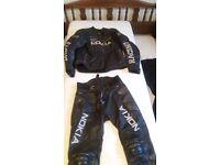2 PIECE LEATHER SUIT 'NOKIA RACING' BLACK XL