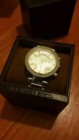 Micheal Kors silver gem women's watch