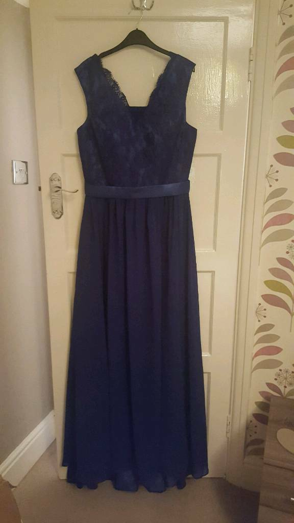 Royal Blue Ball Gown/Full length Dress - Size 14