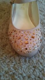 Girls Monsoon Party Shoes Size 1
