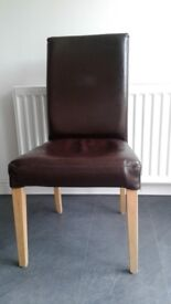Set of 4 leather dining chairs. Excellent condition.