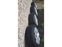 AUDI alloys and tyers 205/55/16 bolts including verry good condition call on 07760558020