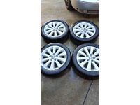 "VAUXHALL ASTRA VECTRA ZAFIRA 17"" ALLOY WHEELS WITH TYRES 215/50/17"