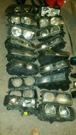 E36 JOBLOT of headlights and spare parts bmw convertible coupe saloon touring compact