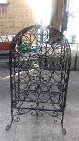 Wine Rack - Wrought Iron