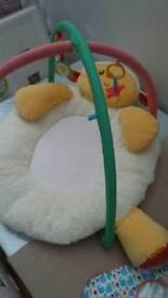 Baby bouncer, baby rocker and sheep cushion bundle