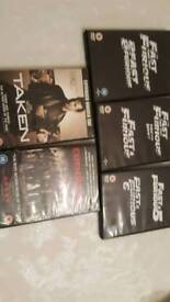 Fast and Furious DVD Set 1-6 also Taken 1 and Expendables 2