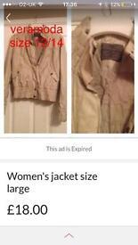 Designer coat by veramoda large