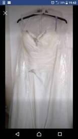 Ivory size 16 wedding dress