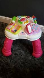 Vtech learn & play activity table pink