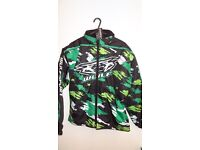 wulfsport jacket motocross motox quad youth junior kids green camo size 34 approx age 13