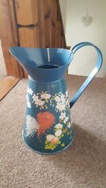 Large blue flower jug
