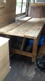 Woodworking Bench with vice. I can deliver/