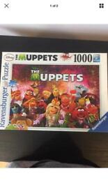 THE MUPPETS 1000 PIECE RAVENSBURGER JIGSAW PUZZLE - GREAT CHRISTMAS IDEA FOR KIDS - USED LIKE NEW