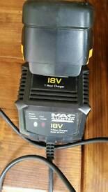 MacAllister 18v battery+charger