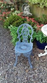 Cast Iron / Aluminium Metal Garden Patio Chair Seat