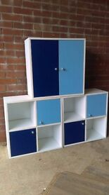 Children's cupboards for storage of toys/books, in excellent condition