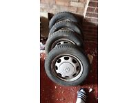 Volkswagen polo wheels 13 inch with good tyres