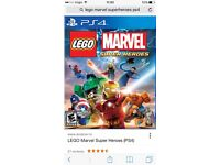 Wanted Lego marvel super heros ps4