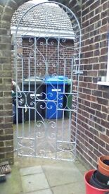 galvanised wrought iron gate
