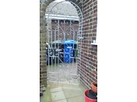 galvanised wrought iron gate