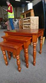 Nest of wooden Tables