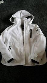 White genuine superdry covenant jacket