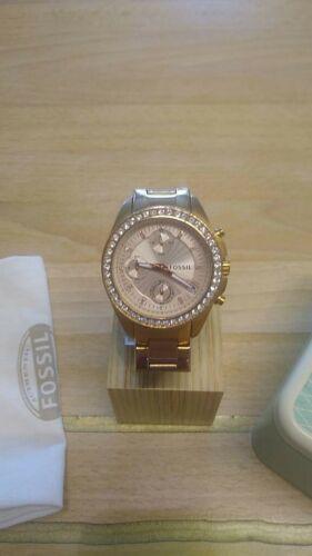 Fossil Riley Stella ES3352 Chronograph für Damen Damenuhr, mit Box Batterie neu