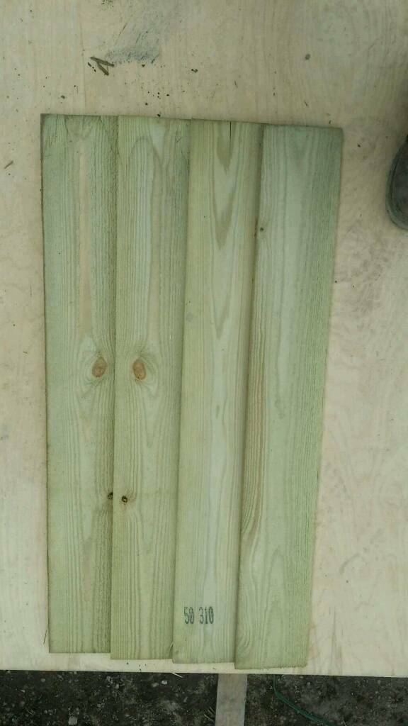 "3ft x 5"" Wide Tanalised Featheredge Boards"