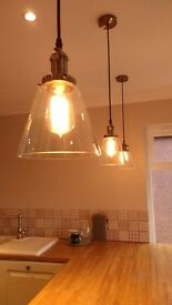 edison bulb glass pendants