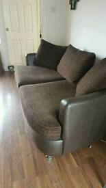 3 seater and swivel love seat