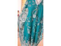 LATEST PAKISTANI STYLE CAPE DRESS