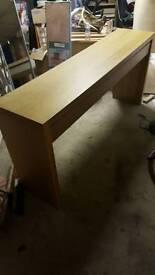 Ikea long oak dressing table
